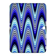Waves Wavy Blue Pale Cobalt Navy Samsung Galaxy Tab 4 (10 1 ) Hardshell Case