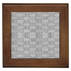 Texture Wood Grain Grey Gray Framed Tiles