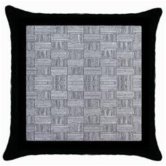 Texture Wood Grain Grey Gray Throw Pillow Case (black)