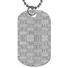Texture Wood Grain Grey Gray Dog Tag (two Sides)