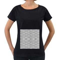 Texture Wood Grain Grey Gray Women s Loose Fit T Shirt (black)