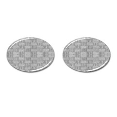 Texture Wood Grain Grey Gray Cufflinks (oval)