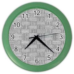 Texture Wood Grain Grey Gray Color Wall Clocks