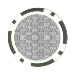 Texture Wood Grain Grey Gray Poker Chip Card Guard