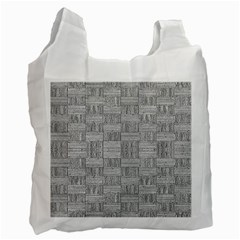 Texture Wood Grain Grey Gray Recycle Bag (two Side)