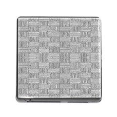 Texture Wood Grain Grey Gray Memory Card Reader (square)
