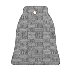 Texture Wood Grain Grey Gray Bell Ornament (two Sides)