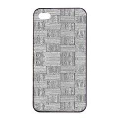 Texture Wood Grain Grey Gray Apple Iphone 4/4s Seamless Case (black)