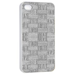 Texture Wood Grain Grey Gray Apple Iphone 4/4s Seamless Case (white)