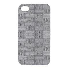 Texture Wood Grain Grey Gray Apple Iphone 4/4s Premium Hardshell Case