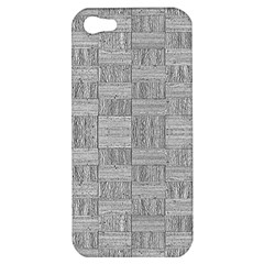 Texture Wood Grain Grey Gray Apple Iphone 5 Hardshell Case