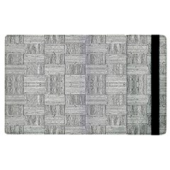 Texture Wood Grain Grey Gray Apple Ipad 2 Flip Case