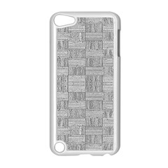 Texture Wood Grain Grey Gray Apple Ipod Touch 5 Case (white)