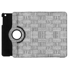 Texture Wood Grain Grey Gray Apple Ipad Mini Flip 360 Case by Nexatart