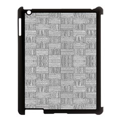 Texture Wood Grain Grey Gray Apple Ipad 3/4 Case (black)