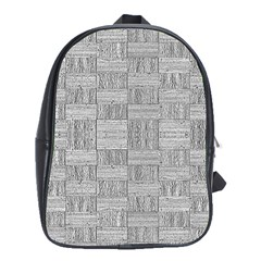 Texture Wood Grain Grey Gray School Bag (xl)