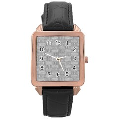 Texture Wood Grain Grey Gray Rose Gold Leather Watch
