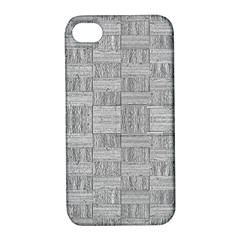 Texture Wood Grain Grey Gray Apple Iphone 4/4s Hardshell Case With Stand