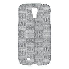 Texture Wood Grain Grey Gray Samsung Galaxy S4 I9500/i9505 Hardshell Case