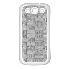 Texture Wood Grain Grey Gray Samsung Galaxy S3 Back Case (white)
