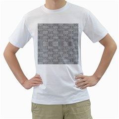 Texture Wood Grain Grey Gray Men s T Shirt (white)