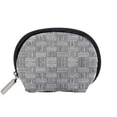 Texture Wood Grain Grey Gray Accessory Pouches (small)