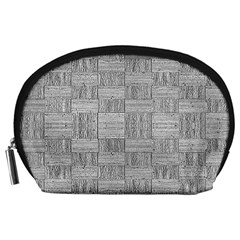 Texture Wood Grain Grey Gray Accessory Pouches (large)