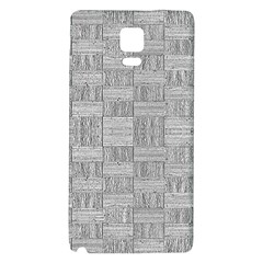 Texture Wood Grain Grey Gray Galaxy Note 4 Back Case