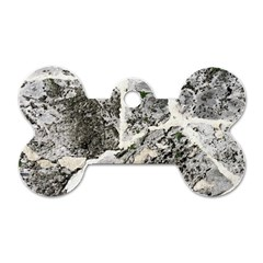 Coquina Shell Limestone Rocks Dog Tag Bone (one Side)