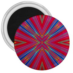 Burst Radiate Glow Vivid Colorful 3  Magnets