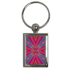 Burst Radiate Glow Vivid Colorful Key Chains (rectangle)