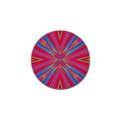 Burst Radiate Glow Vivid Colorful Golf Ball Marker