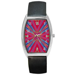 Burst Radiate Glow Vivid Colorful Barrel Style Metal Watch