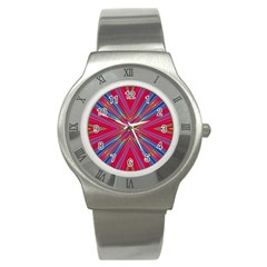 Burst Radiate Glow Vivid Colorful Stainless Steel Watch