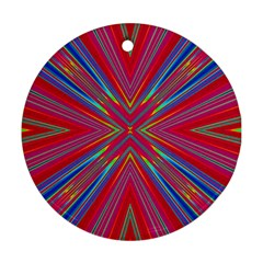 Burst Radiate Glow Vivid Colorful Round Ornament (two Sides)