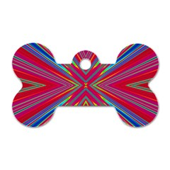 Burst Radiate Glow Vivid Colorful Dog Tag Bone (one Side)