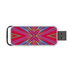 Burst Radiate Glow Vivid Colorful Portable Usb Flash (two Sides)