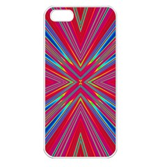 Burst Radiate Glow Vivid Colorful Apple Iphone 5 Seamless Case (white)