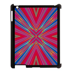 Burst Radiate Glow Vivid Colorful Apple Ipad 3/4 Case (black)