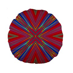 Burst Radiate Glow Vivid Colorful Standard 15  Premium Round Cushions
