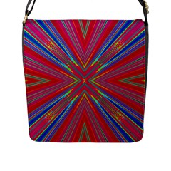 Burst Radiate Glow Vivid Colorful Flap Messenger Bag (l)  by Nexatart