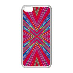 Burst Radiate Glow Vivid Colorful Apple Iphone 5c Seamless Case (white)