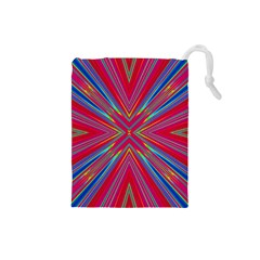 Burst Radiate Glow Vivid Colorful Drawstring Pouches (small)