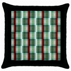 Fabric Textile Texture Green White Throw Pillow Case (black)