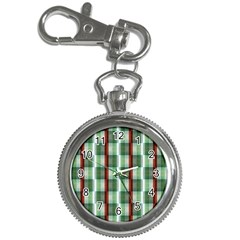 Fabric Textile Texture Green White Key Chain Watches