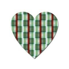 Fabric Textile Texture Green White Heart Magnet