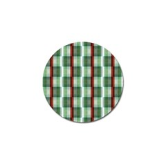 Fabric Textile Texture Green White Golf Ball Marker (10 Pack)