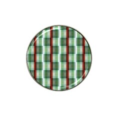 Fabric Textile Texture Green White Hat Clip Ball Marker (10 Pack)