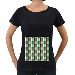 Fabric Textile Texture Green White Women s Loose Fit T Shirt (black)