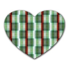 Fabric Textile Texture Green White Heart Mousepads